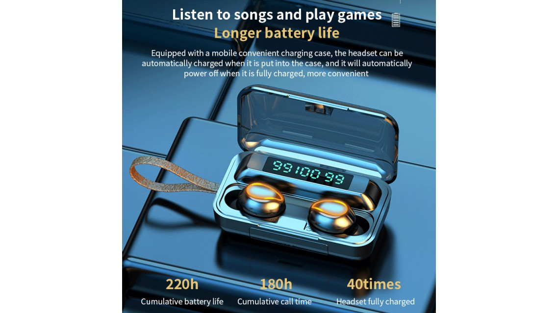 Blue Tooth 5.0 Earbuds F9