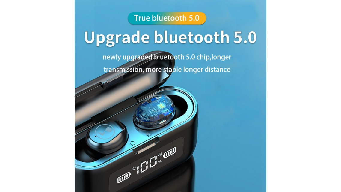 Blue Tooth 5.0 Earbuds Fluid F9